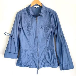 Cabi 393 lightweight utility jacket/coat blue sz M